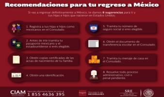 ¿Con planes o no de regresar a México? esta información es importante.