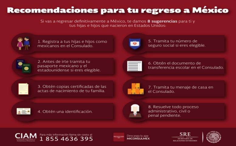 Con planes o no de regresar a México? esta información es importante ...